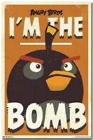Poster 5949 A4 Wh 22 X 34 Angry Birds - The Bomb