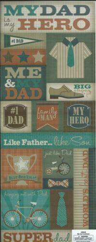 MY DAD IS MY HERO Scrapbook Stickers
