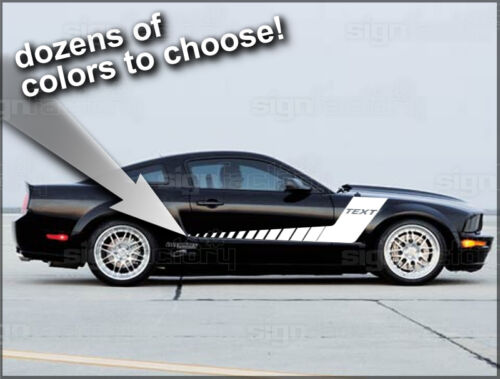 2005-2009 Ford Mustang Custom Hockey Racing Stripe Decals GT Shelby  TH3