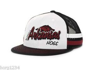 Arkansas-Razorbacks-TOW-Supra-Stripe-NCAA-Snapback-Cap-Hat-OSFM