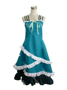 Black Bullet Tina Sprout Cosplay Costume Daily Green Dress