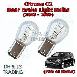 2x Citroen C2 Genuine Osram Ultra Life Rear Indicator Light Bulbs Pair