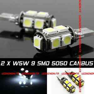 kit 2 ampoule led w5w canbus peugeot 106 205 206 207 306 307 406 407 605 607 807 ebay. Black Bedroom Furniture Sets. Home Design Ideas
