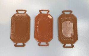 Barbie-Doll-House-Accessories-lot-of-vintage-brown-food-trays