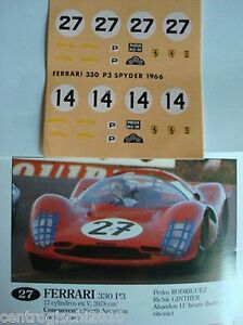 DECALS-KIT-1-43-FERRARI-365-P2-LE-MANS-1966-SCUDERIA-FILIPPINETTI