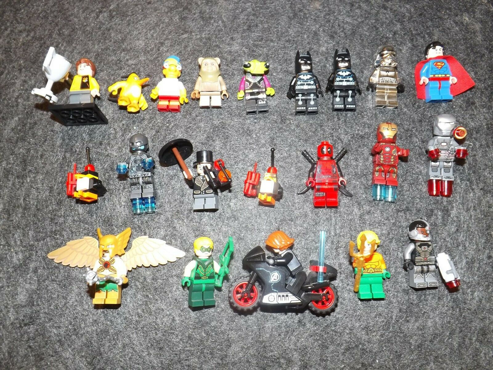 LEGO MINI FIGURES STAR WARS SPIDERMAN MARVEL DC HARRY POTTER FREE UK POSTAGE