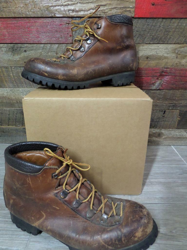 Vintage Montañismo botas DEXTER Vibram 9 M marrón 173566