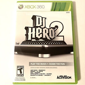 DJ Hero 2 Microsoft Xbox 360 2010 Video Game Tested Complete With Manual