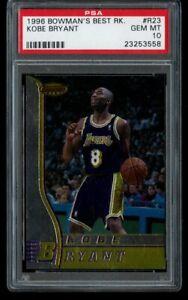 1996-97 Bowman's Best Kobe Bryant Rookie PSA 10 Gem Mint RC R23 LA Lakers HOF