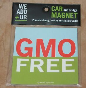 GMO-FREE-MAGNET-Bumper-Sticker-FOR-your-CAR-or-WORK-non-gmo-HEIRLOOM-SEEDS