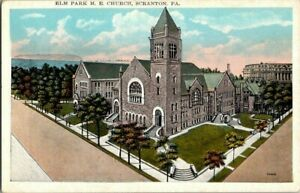 1920-039-S-SCRANTON-PA-ELM-PARK-M-E-CHURCH-POSTCARD-T23