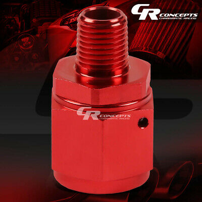"""10-AN FEMALE FLARE TO 3//8/"""" NPT MALE RED ALUMINUM REDUCER B-NUT SWIVEL FITTING"""
