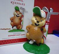 2013 Hallmark Gopher's Got Game Caddyshack Gopher Golf Ornament In Box