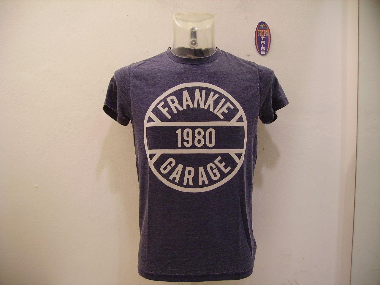 FRANKIE GARAGE MEN'S T-SHIRT SHORT SLEEVE FG TS 24120 blueE L