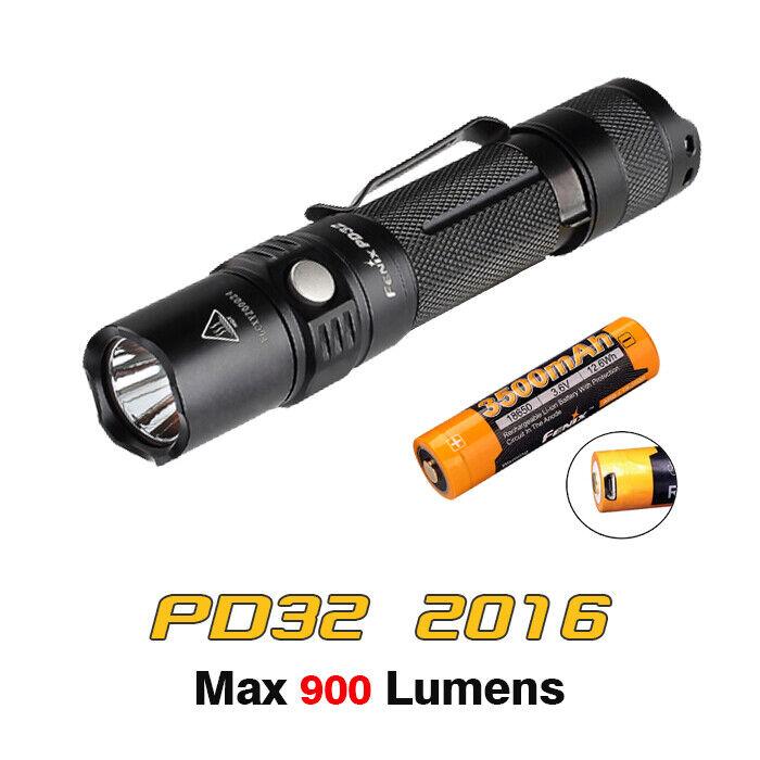 Fenix PD32 2016 CREE XP-L HI DEL Poche Lampe De Poche Torche + usb 3500 mAh Batterie