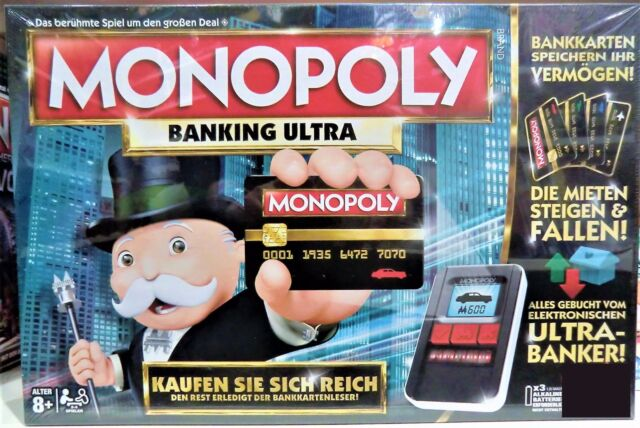 MONOPOLY Banking Ultra, Familienspiel, Hasbro Spiele B6677E39 – NEU
