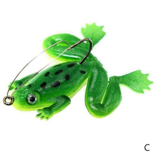 1pc Topwater Frog Lure For Bass Snakehead Freshwater So O1Z9 Saltwater Fish K8R3