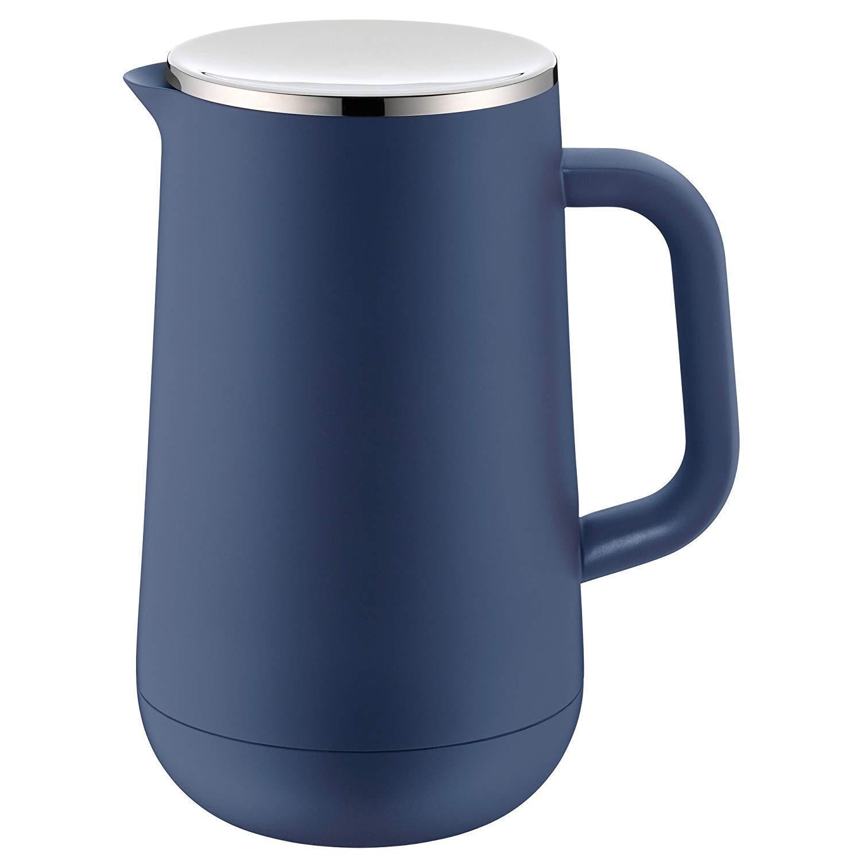 WMF Carafe Thermique Impulse Prussian Bleu Thé Café 1 L.23,4 cm Verre Couvercle