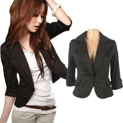 Outerwear Indie womens 3//4 Sleeve jacket cardigan Summer Blazer UK Size 6-14