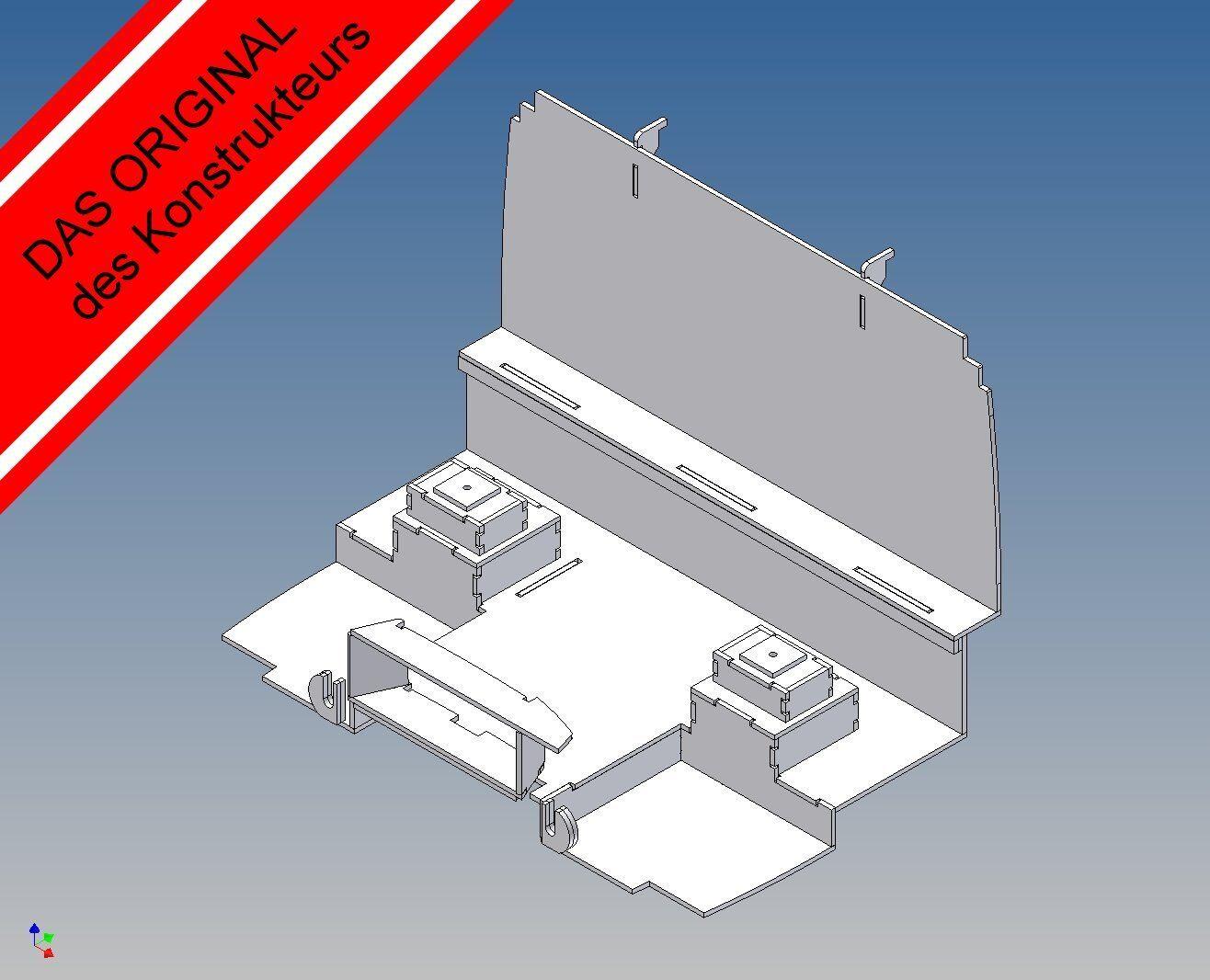 MTK - Fahrerhausboden für Tamiya MAN TGX (M 1 14) - Trennwand, Erweiterung