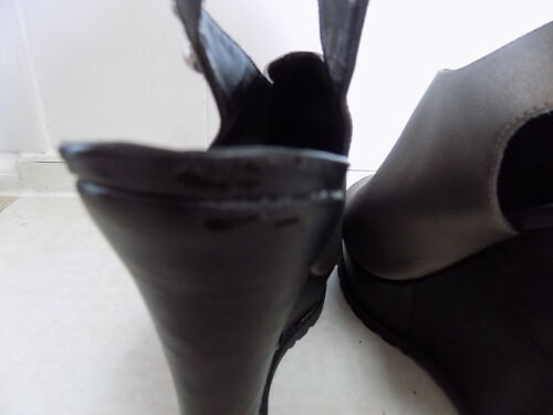 Leather Festival Hippy Grey River Platform Wedge Sandals Pewter Boho Island nTxgxOqHR