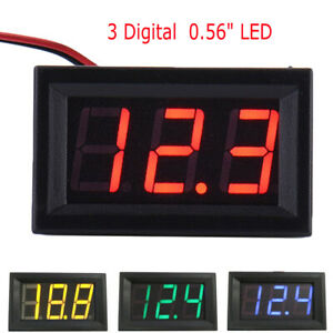 DC-Voltmeter-0-56-039-039-LED-Digital-Volt-Meter-Gauge-Battery-Charge-Indicator-Tester