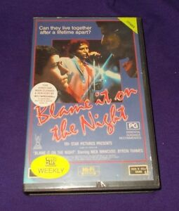 BLAME-IT-ON-THE-NIGHT-VHS-CBS-FOX-PAL-NICK-MANCUSO-BYRON-THAMES