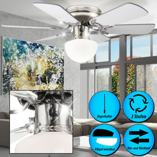 LEISER Decken Ventilator Zugschalter Lampe Wind Lüfter Klima Gerät GLOBO 0307W