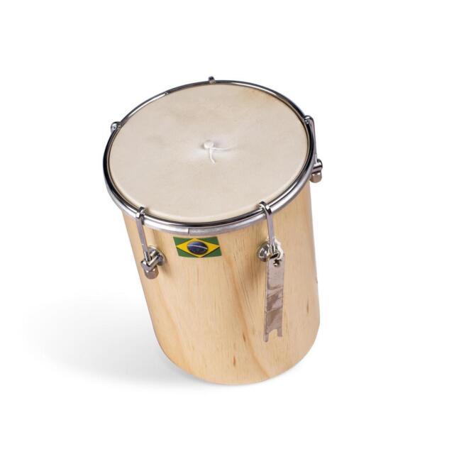 "8/"" Afro Brazilian Leather ku?ik Cuica Natural Wood Friction Drum Samba Music"