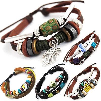 Leder Armband Unisex!Surferarmband Herren Damen Leather Bracelet TIB31