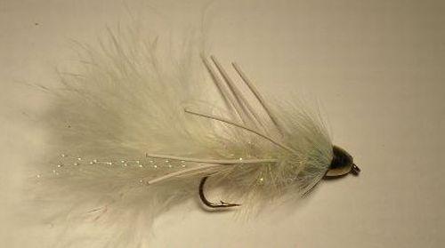 Conehead Krystal Rubber leg Woolly Bugger Yellow size  #4