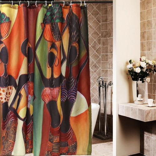 Shower Curtain Home Bath Decor Non-Slip Bathroom Rug Lid Toilet Cover Bath Mat