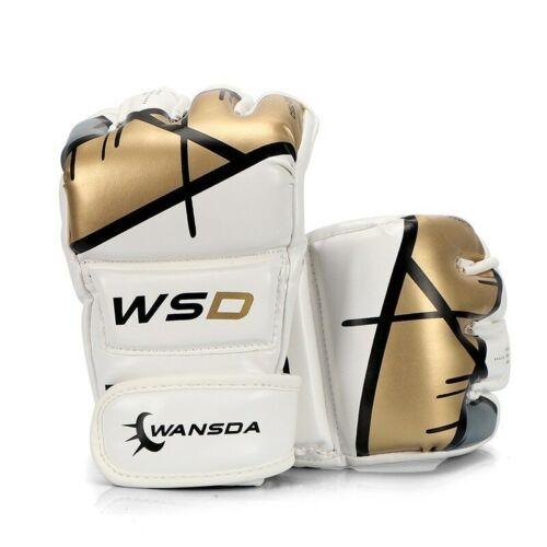 Half Finger Kick Boxing Gloves Men Women Free Fight MMA Training