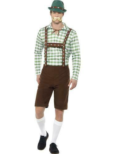 Alpine Bavarian Mens Fancy Dress German Oktoberfest Lederhosen Costume Hat