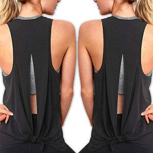 Womens-Vest-Workout-Tank-Tops-T-Shirt-Sport-Gym-Fitness-Yoga-Sleeveless-Blouse-X