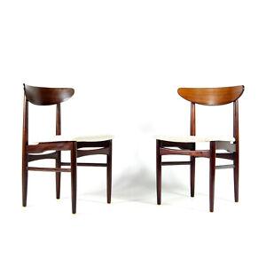 1 of 2 Retro Vintage Danish Teak Rosewood Desk Office Side Chair Armchair 60s