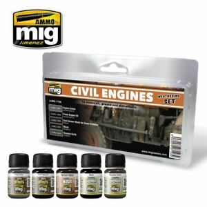 Ammo De Mig Weathering Set-civil Moteurs Weathering Set-afficher Le Titre D'origine