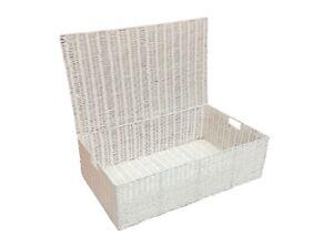 Storage-Basket-Chest-Under-Bed-White-Resin-Woven-Trunk-Basket-Medium