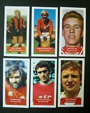 Complete set of 6 AFC BOURNEMOUTH Score UK football trade cards BEST  MACDOUGALL