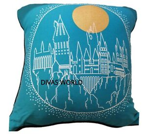 Harry-Potter-Cushion-Home-Decor-Bedroom-Blue-Soft-Pillow-Hogwarts-Print-Primark