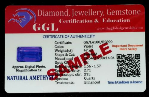 Details about  /Loose Gemstone Natural Amethyst Certified 45 To 50 Cts Mix Shape Pair EAME25