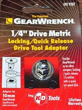 "Danaher KD 9207 Wrench Drive Adapter 10mm Hex to 1/4"" Drive Square w/speed"