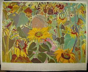 Print-Original-Signature-IN-Determine-Flowers-Sunflowers-034-EA-034-30-11-16in