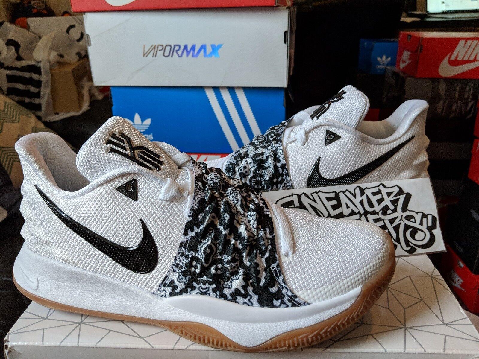 Nike Kyrie IV 4 Low White Black Gum Bottom Basketball Irving Men's AO8979-100 Cheap women's shoes women's shoes