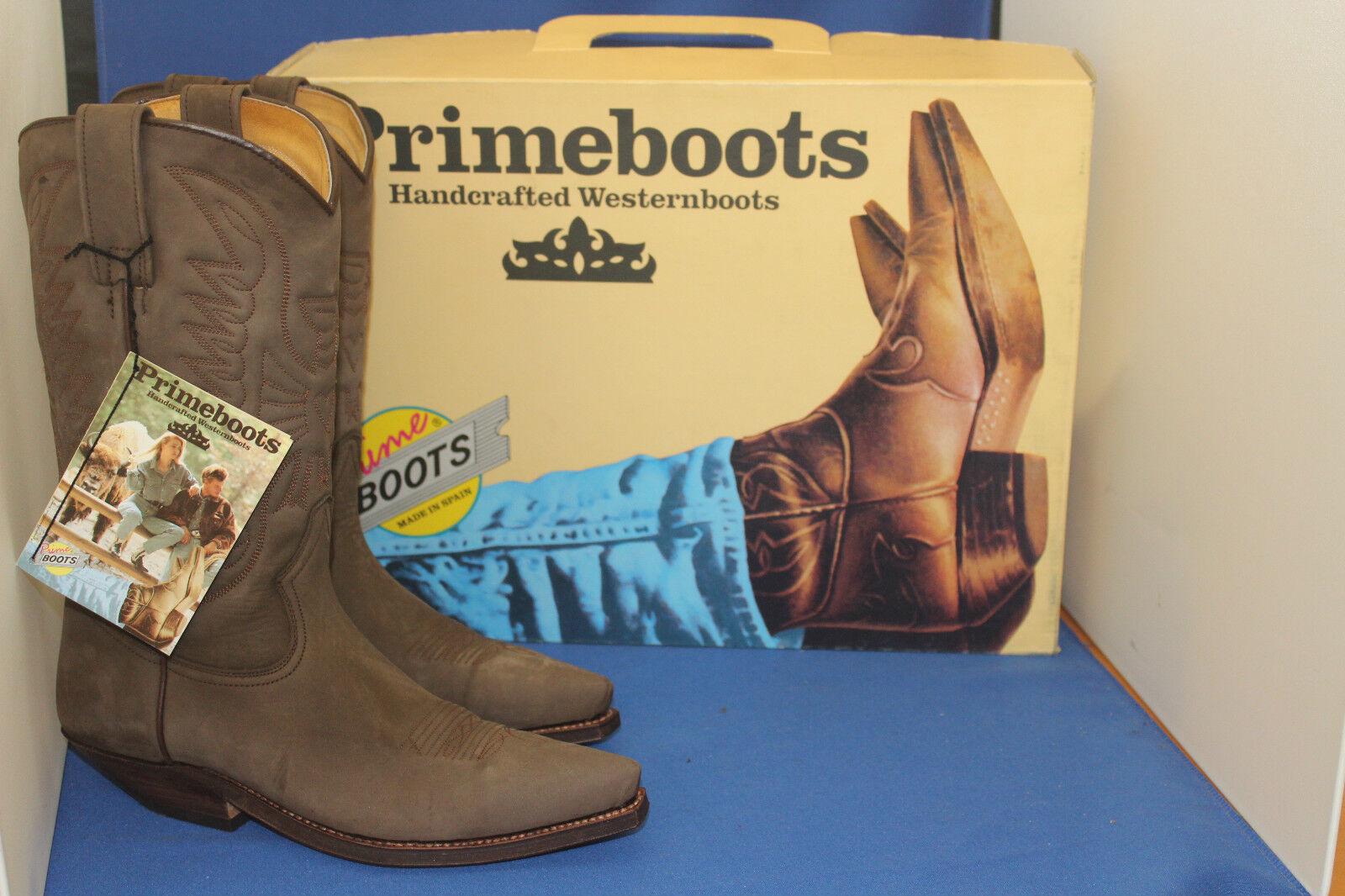 Prime botas vaqueras botas Western botas botas nuevo talla. 39 oil marron marrón