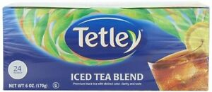 Tetley Usa Round Iced Tea Blend Family Size 24 Count