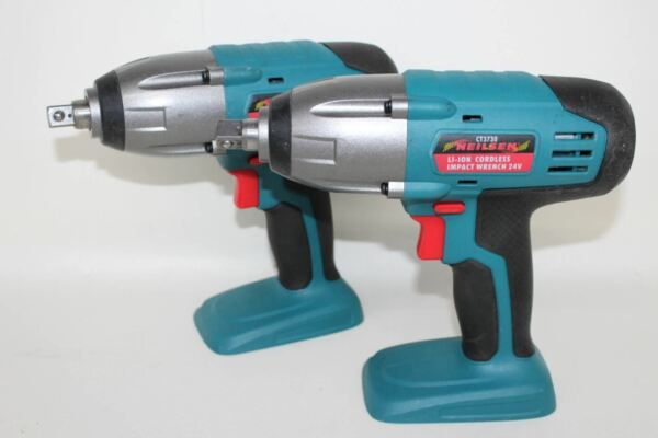 """Briljant Neilsen Ct3730 Cordless Impact Wrench 24v 1/2"""" Square Drive Body Only 2x New Geurige (In) Smaak"""