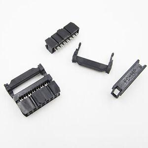 10PCS 14Pin 2x7 2.54 Pitch IDC FC-14 Female JTAG Socket ISP Connector Flat
