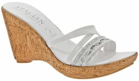 70 Italian chaussuresmakers Candy Wedge  NEW blanc Taille 11