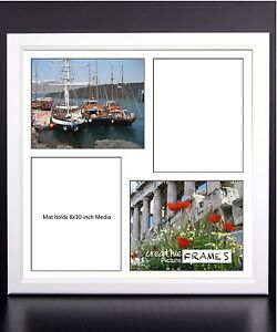 Creativepf 4 Opening Multi 8x10 White Picture Frame W 20x20 White